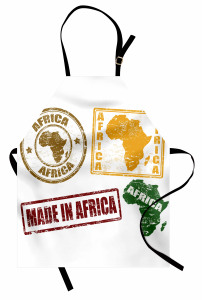 Afrika Temalı Mutfak Önlüğü Harf Baskılı