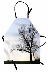 Yaprakları Dökülmüş Ağaç Mutfak Önlüğü Yaprakları Dökülmüş Ağaç