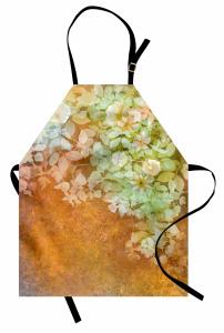 Yaprak ve Çiçek Mutfak Önlüğü Nostaljik Çiçekler