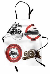 Nostaljik Klasik Araba Logoları Mutfak Önlüğü Klasik Araba Logoları Retro
