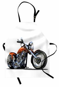 Motosiklet Desenli Mutfak Önlüğü Hız Severlere Özel