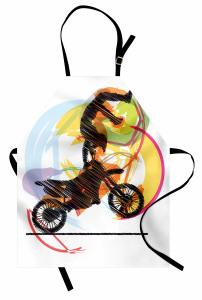 Motosiklet Sevenlere Özel Mutfak Önlüğü Akrobat Sarı