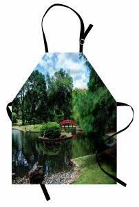 Baharda Doğal Gölet Manzarası Mutfak Önlüğü Doğal Cennet Bahar Zamanı