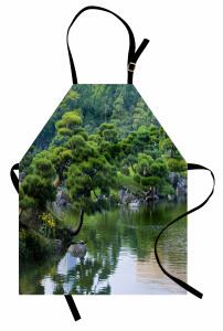 Doğada Huzurlu Nehir Mutfak Önlüğü Doğada Huzur Temalı