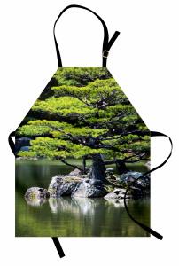 Yaz Mevsiminde Göl Manzarası Mutfak Önlüğü Doğada Yaz Mevsimi Temalı