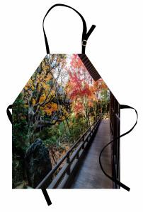 Sonbaharda Ahşap Ev Mutfak Önlüğü Ahşap Köy Evi