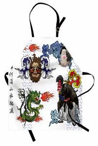 Mitolojik Japon Sembolleri Mutfak Önlüğü Mitolojik Semboller