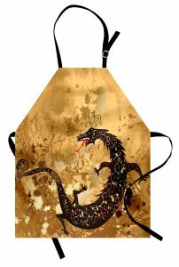 Fantastik Ejderha Desenli Mutfak Önlüğü Ejderha Fantastik Savaş