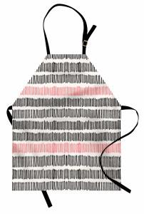 Dekoratif Desenli Mutfak Önlüğü Trend Mercan Siyah Bej