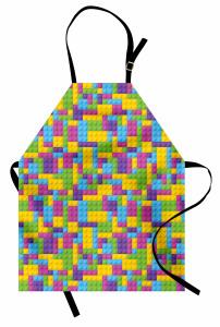 Lego Desenli Mutfak Önlüğü Rengarenk Legolar Oyun