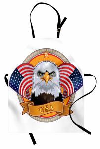 Amerikan Kartalı Mutfak Önlüğü ABD Bayrağı Şık