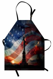 Özgürlük Anıtı ve Güneş Mutfak Önlüğü ABD Bayrağı