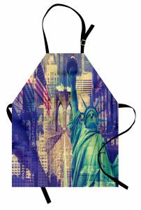 New York Gökdelenleri Mutfak Önlüğü Özgürlük Anıtı ABD