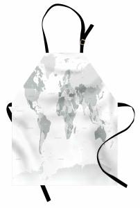 Dünya Haritası Mutfak Önlüğü Dünya Haritası Temalı Kıta Okyanus