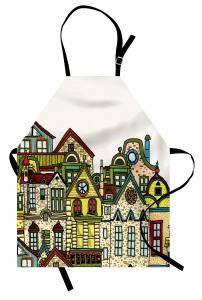 Taş Ev Desenli Mutfak Önlüğü Taş Evler
