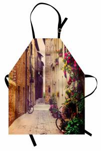 Macera Seyahatle Başlar Mutfak Önlüğü Çiçekler