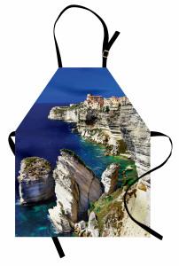Deniz Manzaralı Kasaba Mutfak Önlüğü Okyanus Doğa