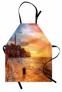 Adriyatik'te Gün Batımı Mutfak Önlüğü Romantik