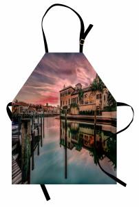 Venedik Kanalında Gün Doğumu Mutfak Önlüğü