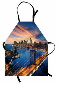 New York'ta Gün Doğumu Mutfak Önlüğü Nehir