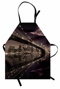 Büyüleyici New York Silüeti Mutfak Önlüğü Amerika