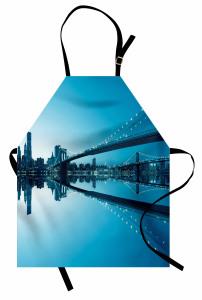 Masmavi New York Mutfak Önlüğü Masmavi Deniz Gökyüzü