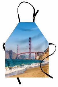 Kaliforniya Sahili Mutfak Önlüğü Kumsal Mavi