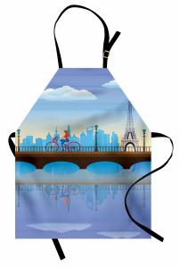 Paris'te Gezinti Mutfak Önlüğü Eyfel Kulesi