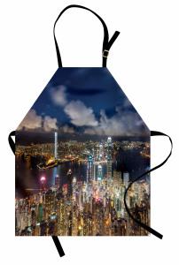 Hong Kong Limanı Mutfak Önlüğü Gökdelenler