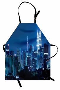 Kuala Lumpur Mutfak Önlüğü Şehir Işıkları