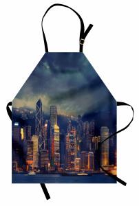 Fırtınalı Hava Mutfak Önlüğü Hong Kong Lacivert