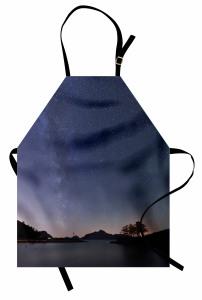 Yıldızlı Gökyüzü Mutfak Önlüğü Deniz Mavi Doğa Huzur