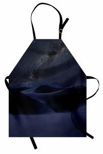 Mavi Kum Tepeleri Mutfak Önlüğü Yıldızlı Gökyüzü