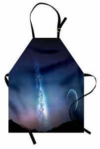 Yıldızlar ve Ay Mutfak Önlüğü Lacivert Gökyüzü