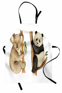 Sevimli Koala ve Panda Mutfak Önlüğü Sevimli Koala ve Panda