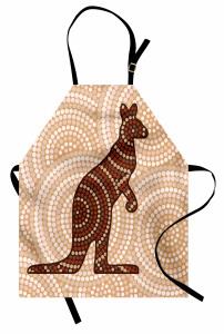Kanguru Figürlü Mutfak Önlüğü Kanguru Figürü Modern Sanat