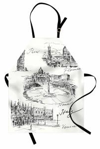 İtalya Mimarisi Mutfak Önlüğü Pisa Kulesi Roma Venedik
