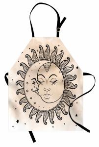 Güneş Ay ve Yıldızlar Mutfak Önlüğü Güneş Ay ve Yıldızlar Rüya Retro