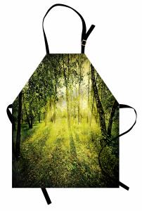 Ormanda Gün Doğumu Mutfak Önlüğü Güneş Doğa