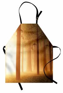 Sihirli Orman Mutfak Önlüğü Sisli Puslu Doğa