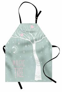 Sihirli Ağaç Desenli Mutfak Önlüğü Sihirli Ağaç Ay Yıldızlar