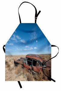 Terk Edilmiş Araba Mutfak Önlüğü Kahverengi Gökyüzü