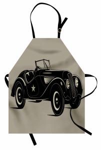 Klasik İtalyan Arabası Mutfak Önlüğü Klasik İtalyan Arabası Baskılı