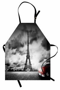 Romantik Paris Mutfak Önlüğü Eyfel Kulesi