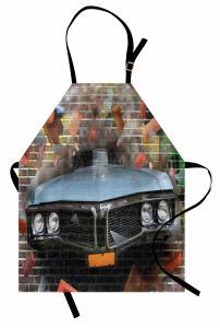 Sokak Sanatı Mutfak Önlüğü Gerçekçi Grafiti
