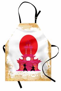 Samurayların Savaşı Mutfak Önlüğü Dekoratif Japon