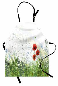 Gelincik Çiçeği Desenli Mutfak Önlüğü Yusufçuk Bahar