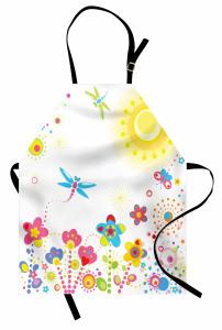 Yusufçuk ve Çiçek Mutfak Önlüğü Yusufçuk Güneş Çiçekler