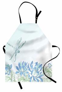 Yusufçuk ve Zambak Mutfak Önlüğü Yusufçuk Çiçekler