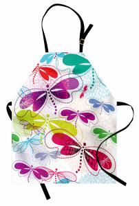 Rengarenk Yusufçuk Mutfak Önlüğü Çiçekler Yusufçuk
